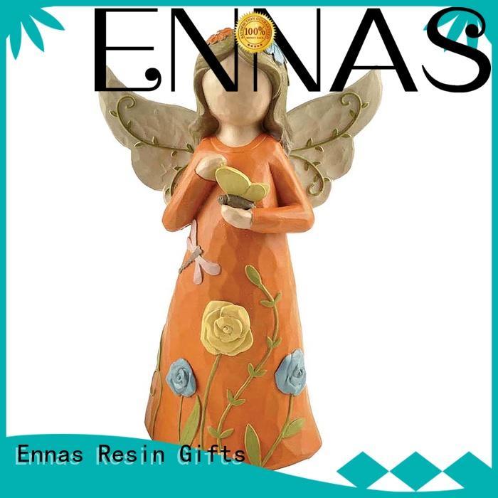 Ennas Christmas resin angel figurines handicraft at discount