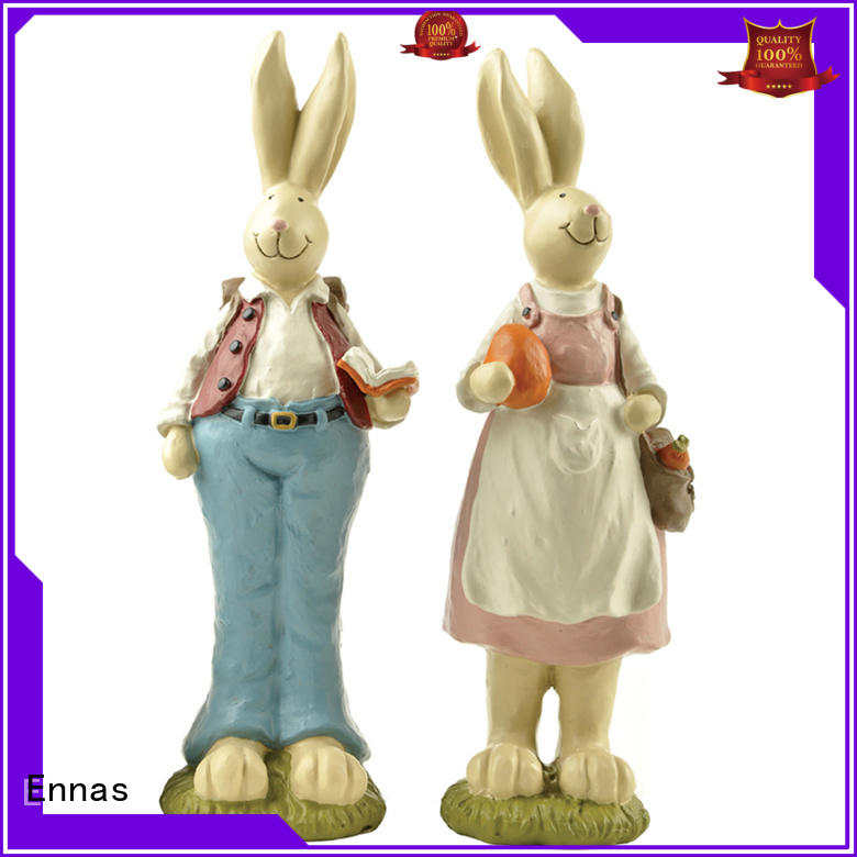 Ennas decorative vintage easter figurines polyresin home decor