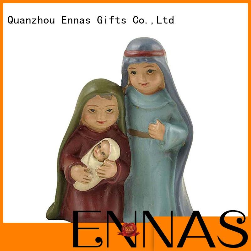 Ennas eco-friendly nativity set hot-sale family decor