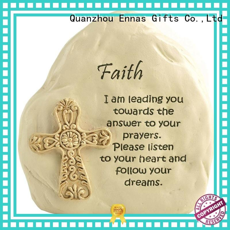 Faith Rock with Cross Religious Figures