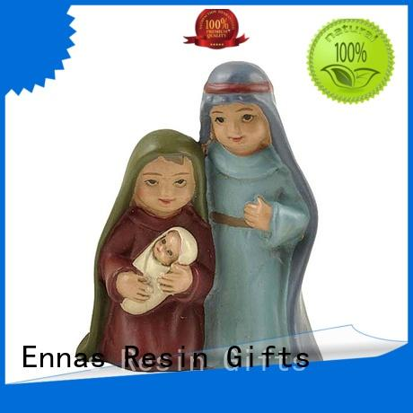 Cheap Cartoon Style Holy Family Nativity Set Figurines
