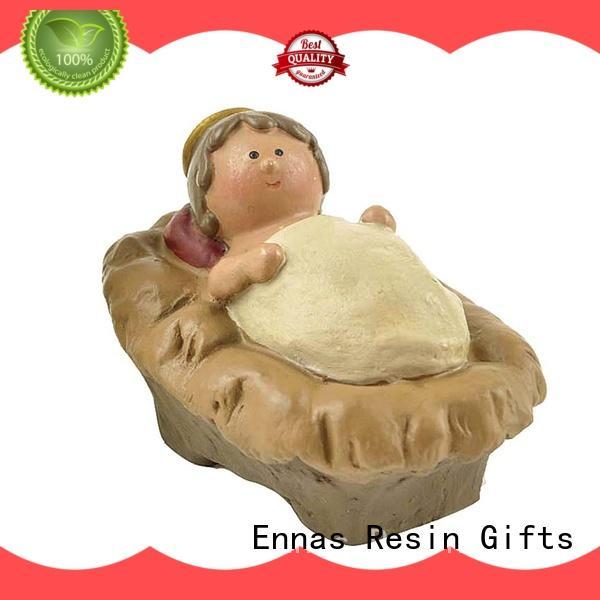 Ennas holding candle nativity set animals bulk production craft decoration
