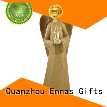 Ennas carved angel wings figurines handmade fashion