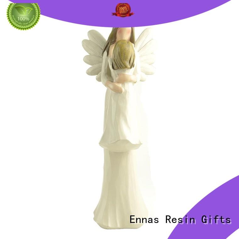 Ennas carved memorial angel figurines lovely for decoration
