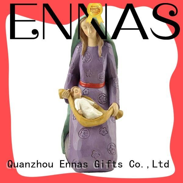 Ennas holding candle church figurine popular