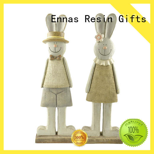 best quality easter rabbit decor polyresin micro landscape