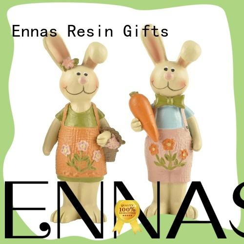 Ennas best quality easter rabbit figurines handmade crafts home decor