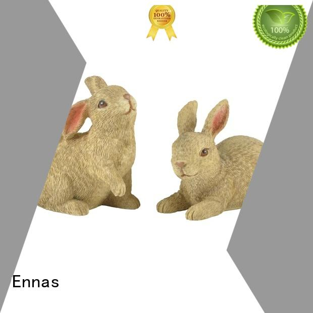 Ennas easter rabbit decor polyresin micro landscape