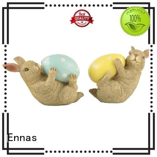 Ennas best quality easter rabbit figurines handmade crafts home decor