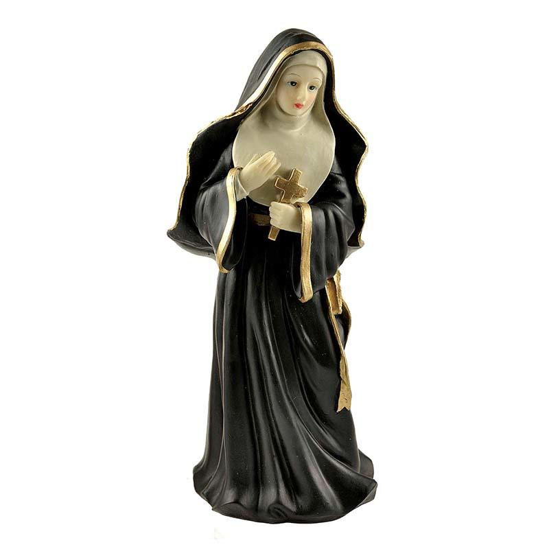 Famous Nun Polyresin Virgin Mary Bust Statue With Cross