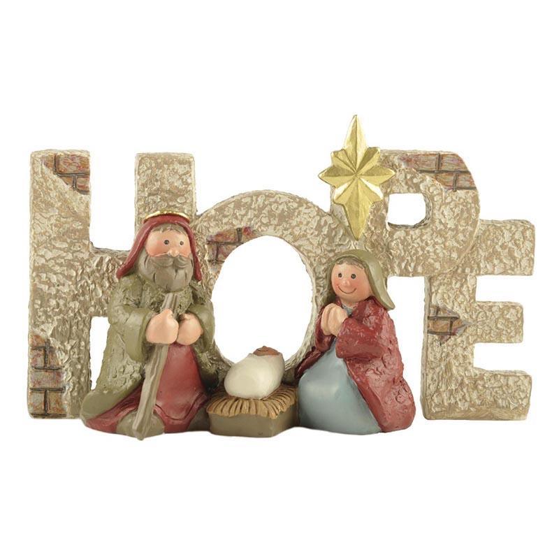 Ennas holding candle nativity set figurines popular craft decoration