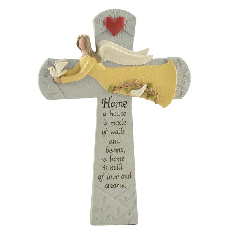 Custom Your Design Resin Cross Angel for Christmas Decoration Gifts