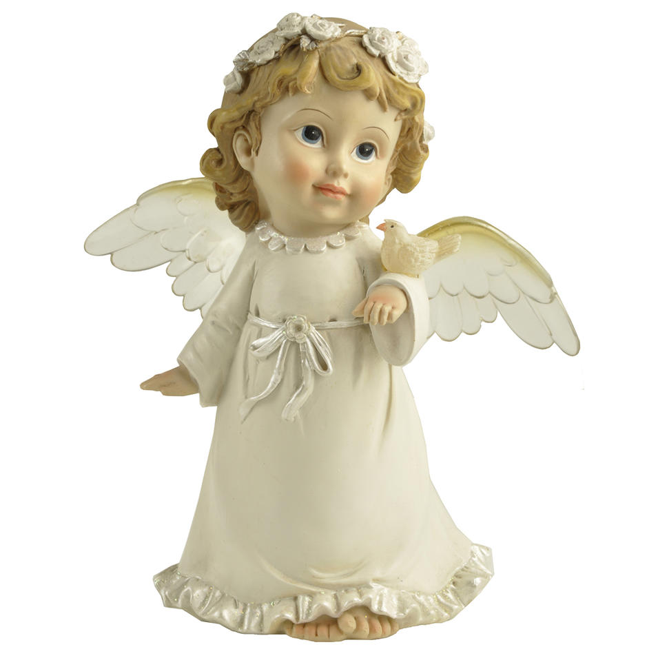 Garden Decoration Little Resin Cute Angel Figurine with wings