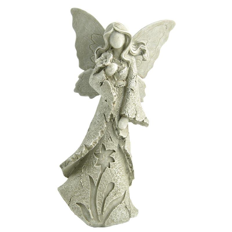 Amazon Hot Sale Garden Decor Angel Holding Flowers Statue