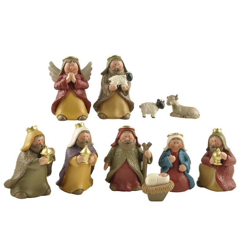 Ennas custom sculptures nativity set figurines bulk production family decor-1