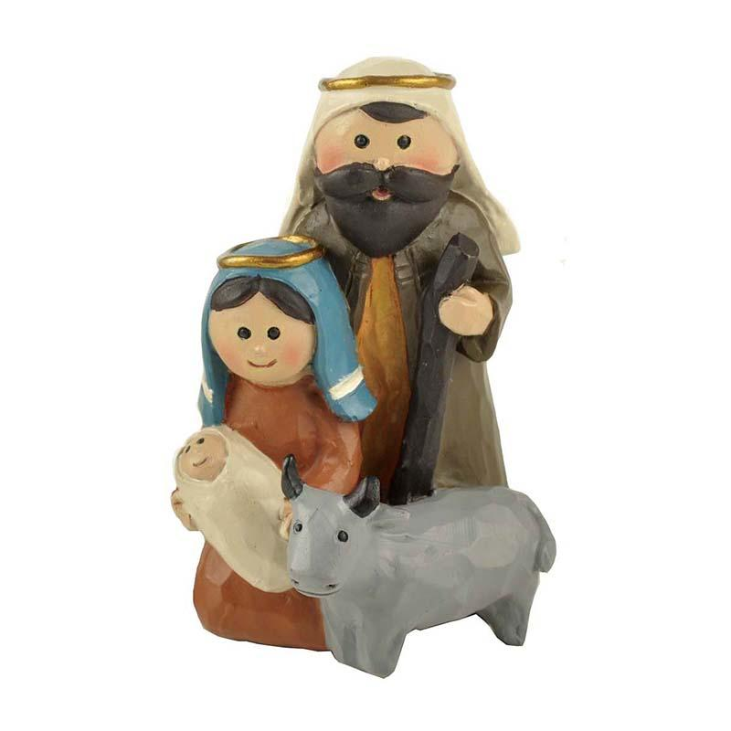 Christian Catholic Jesus Maria Joseph's Holy Family Three People Family Blessings Statues