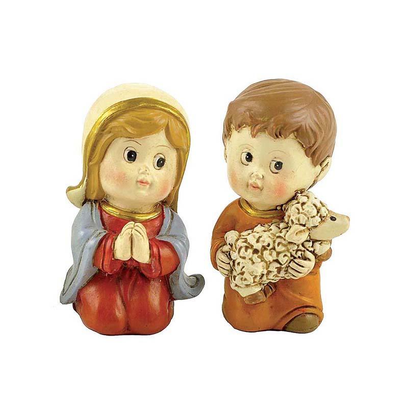 holding candle catholic figurines eco-friendly hot-sale family decor