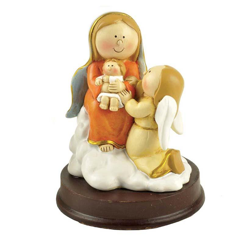 holding candle nativity set with stable eco-friendly popular