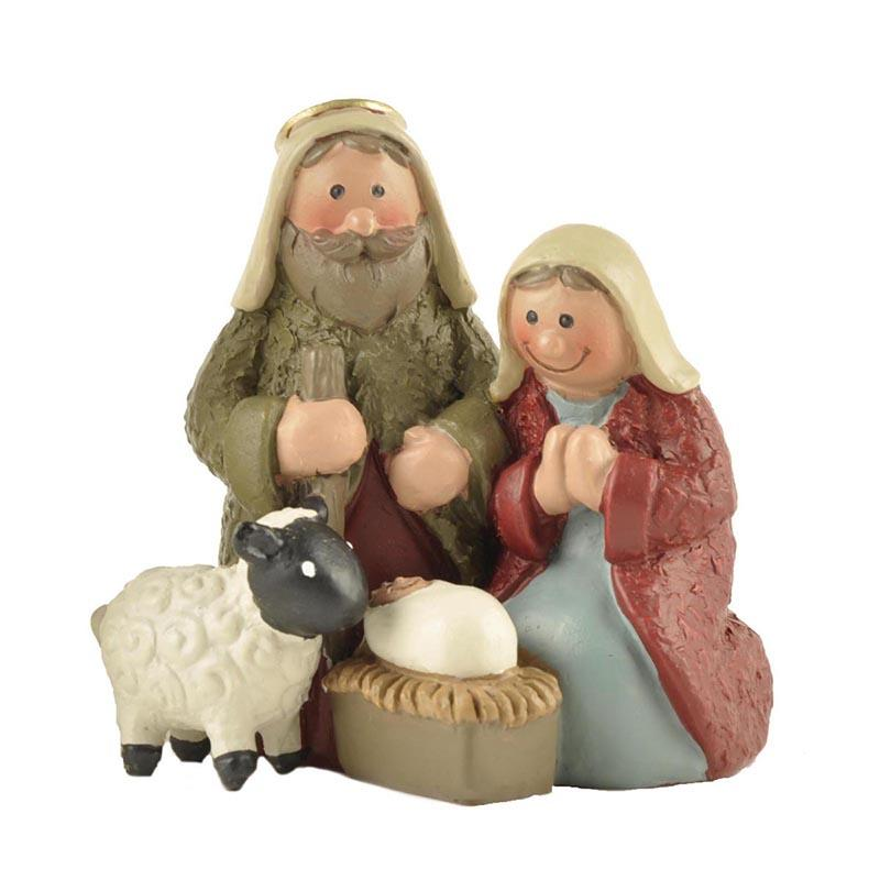 Handmade Collection 2.36 Inch Holy Family Nativity Figurine Tabletop Scene Decoration