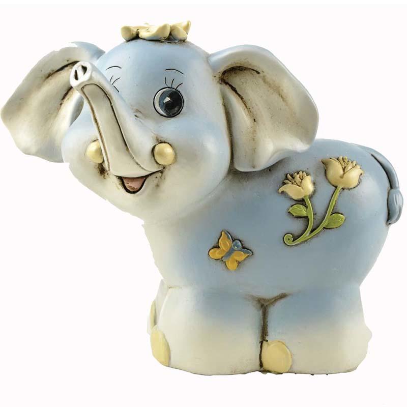 Wholesale Elephant Shaped Custom Money Box Saving Bank Resin Piggy Bank PH15087