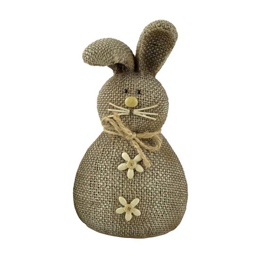 Hand-made Resin Brown Rabbit Animal Sculpture for Home and Garden Decoration