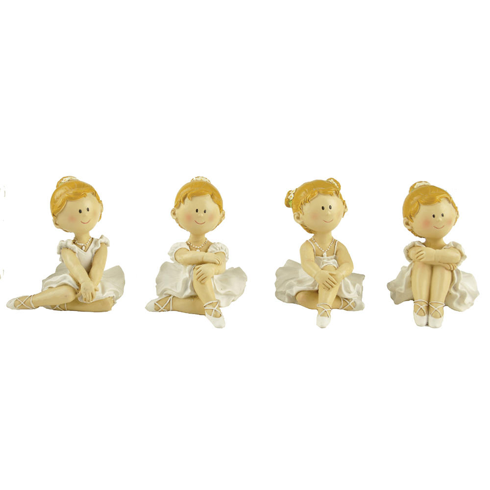 New Design Resin Ballet Girl sitting 4/A