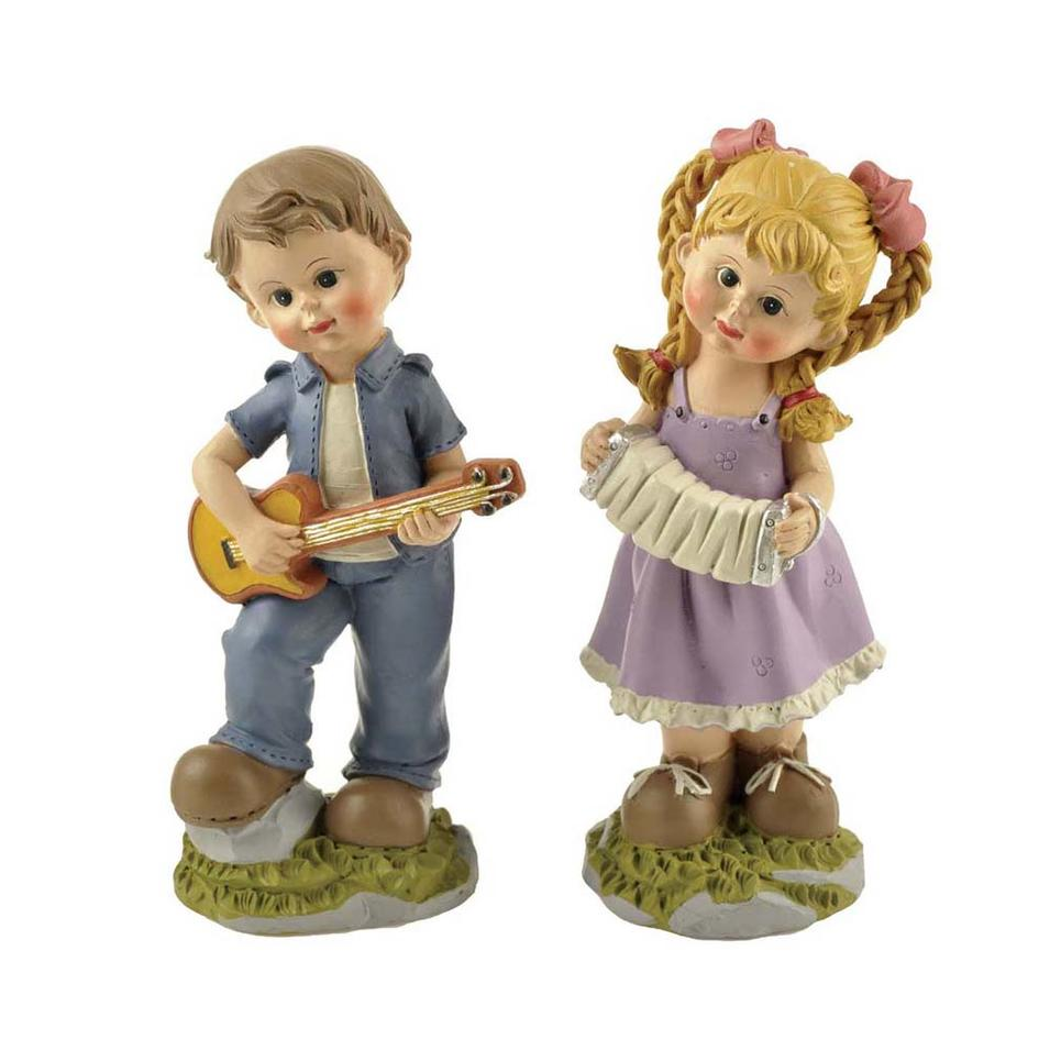 Hot Sale Cute Boy & Girl Playing Music 2/A