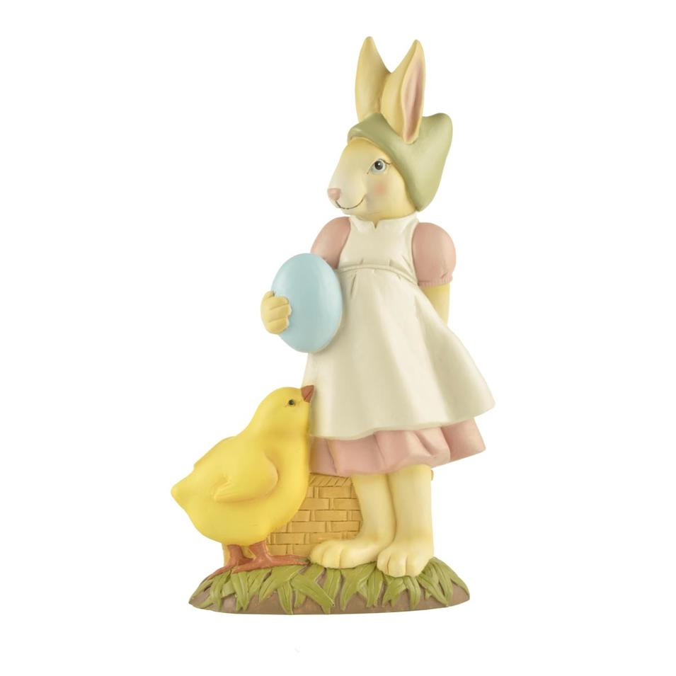 Hot Sale Design Animal Home Decoration Resin Rabbit Statues with Egg