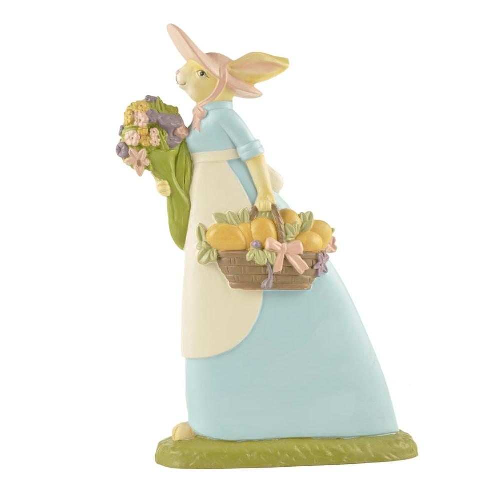 Popular Polyresin Decorative Statue Resin Easter Brown Rabbit
