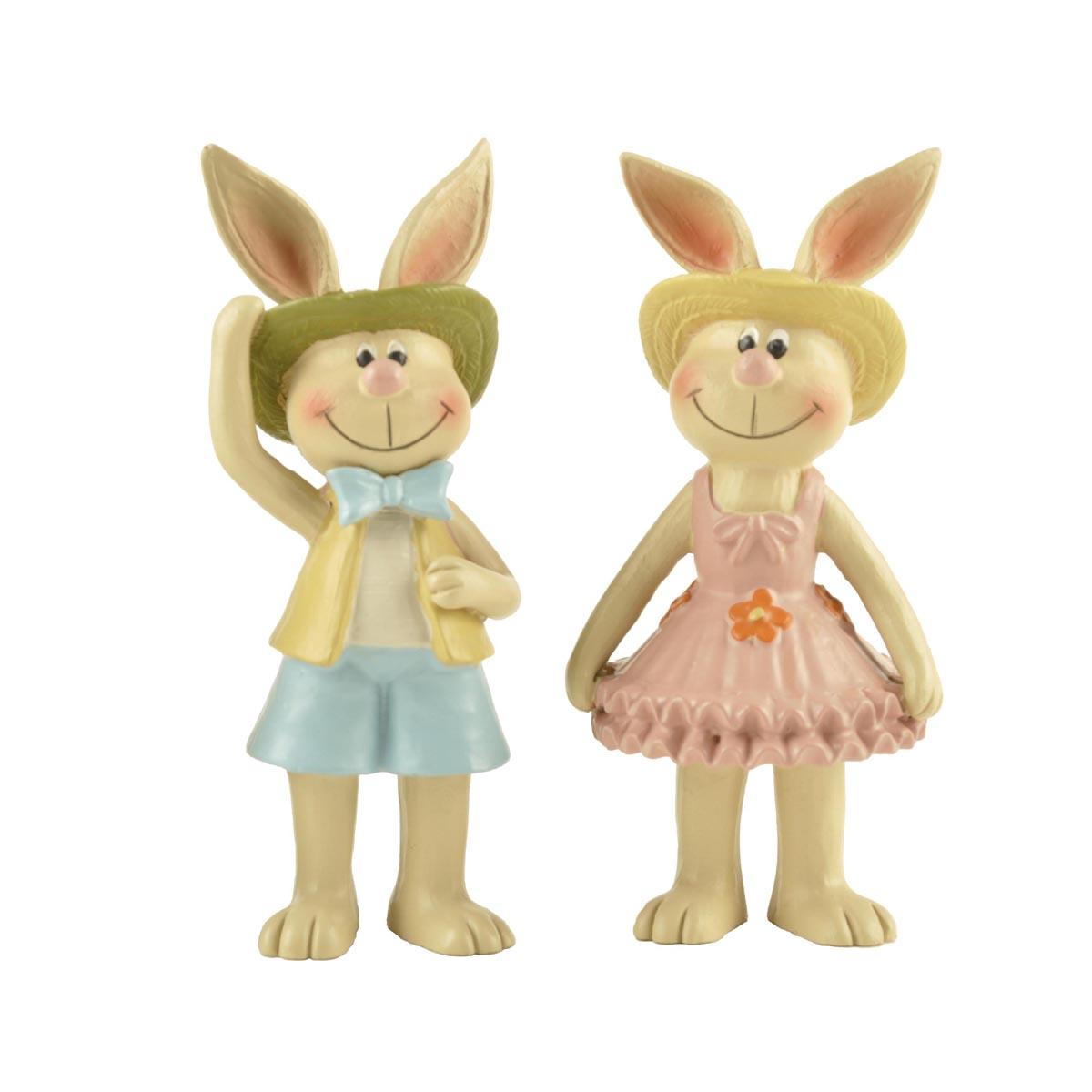Amazon Best Selling Colorful Resin Rabbit Figurine Easter Bunny sculpture