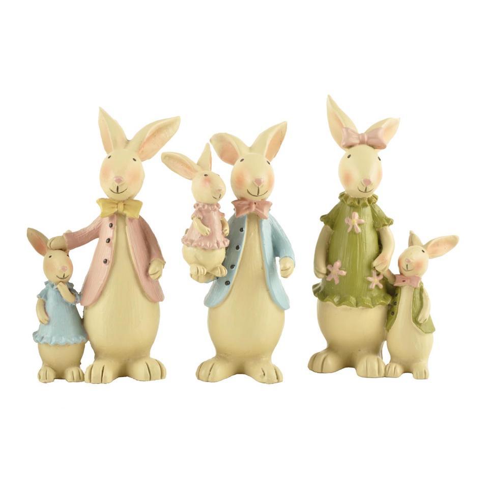 Resin Handmade Customized Decoration Easter Rabbit Bunny Statue