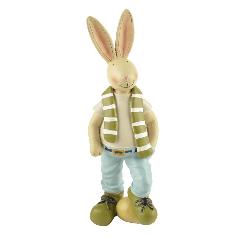 Factory Direct Custom Resin Easter Rabbit Figurine Bunny with Egg