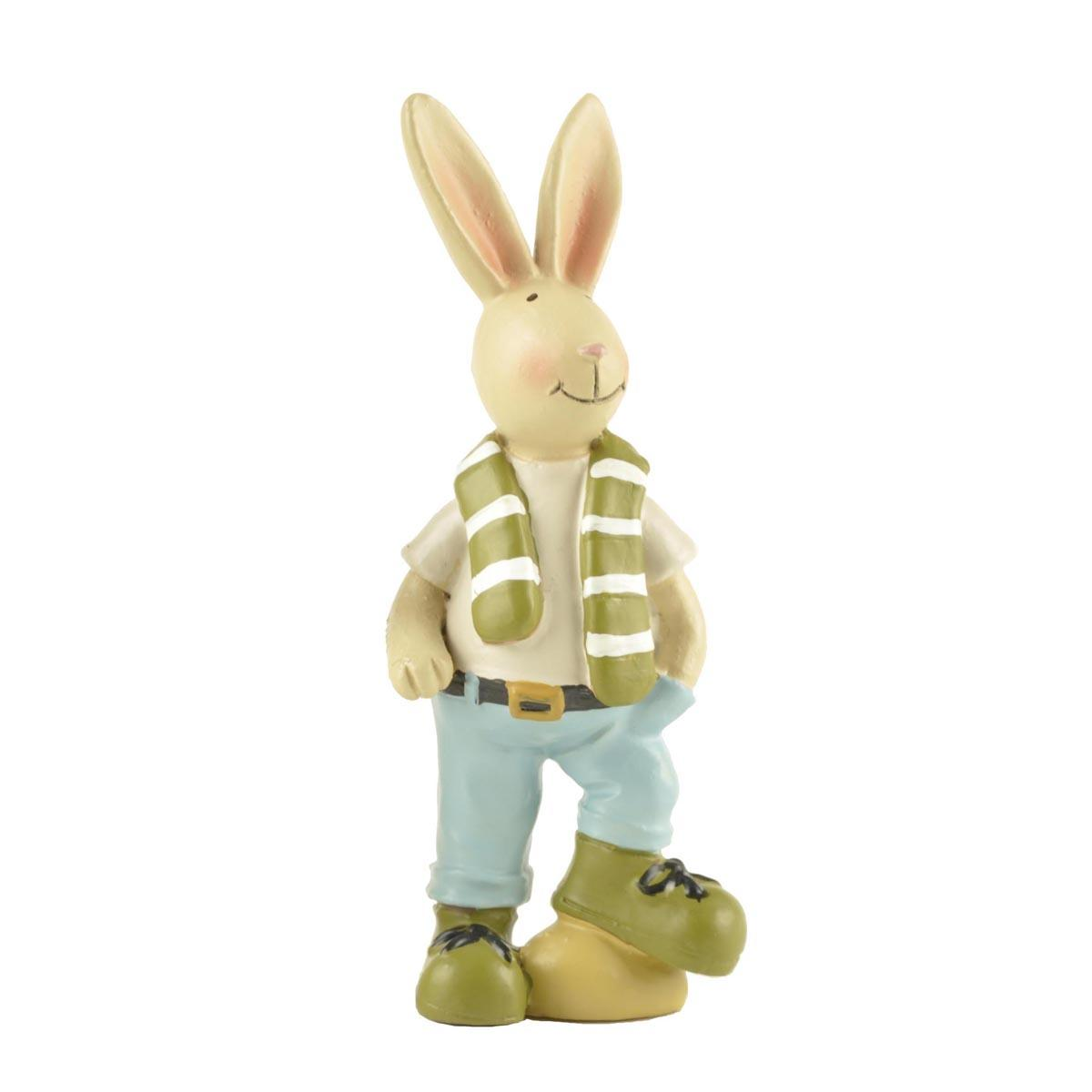 Gifts Resin Easter Rabbit Bunny Statue for Animal Decoration Small