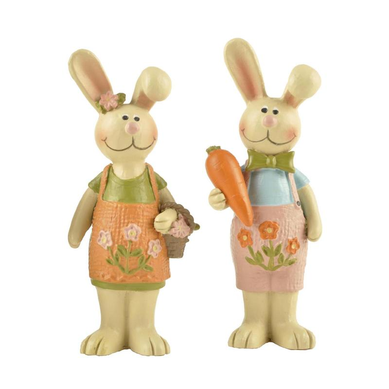 Ennas free sample easter rabbit figurines oem home decor
