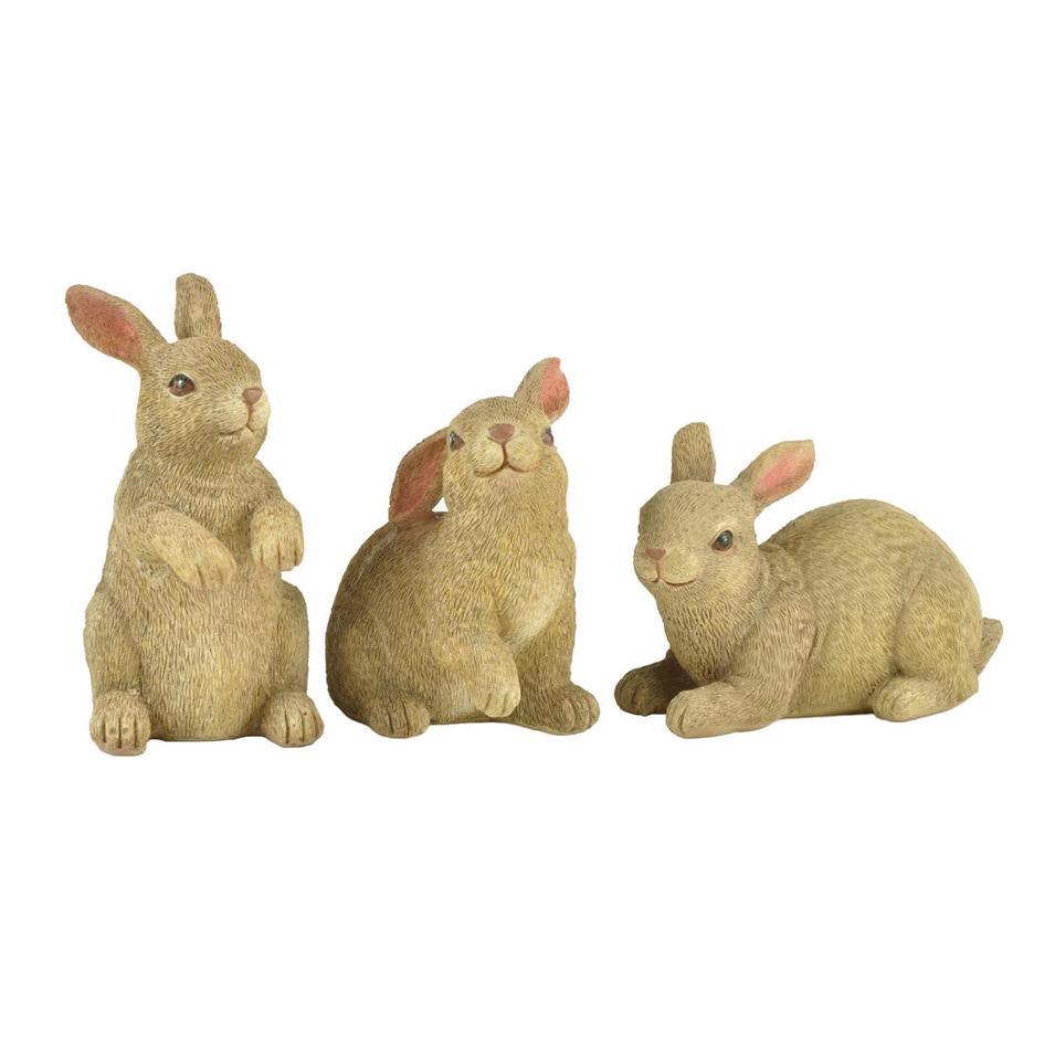 S/3 High Quality Factory Supply Resin Rabbit Figurine Bunny Garden Decor