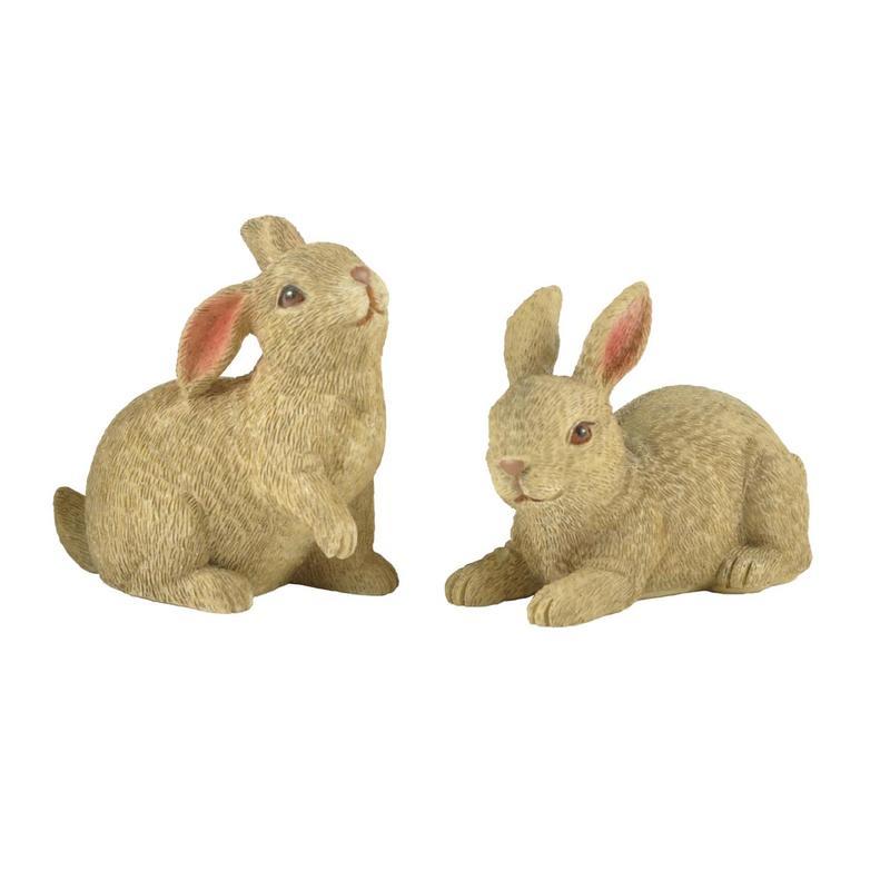Ennas easter rabbit statues polyresin micro landscape