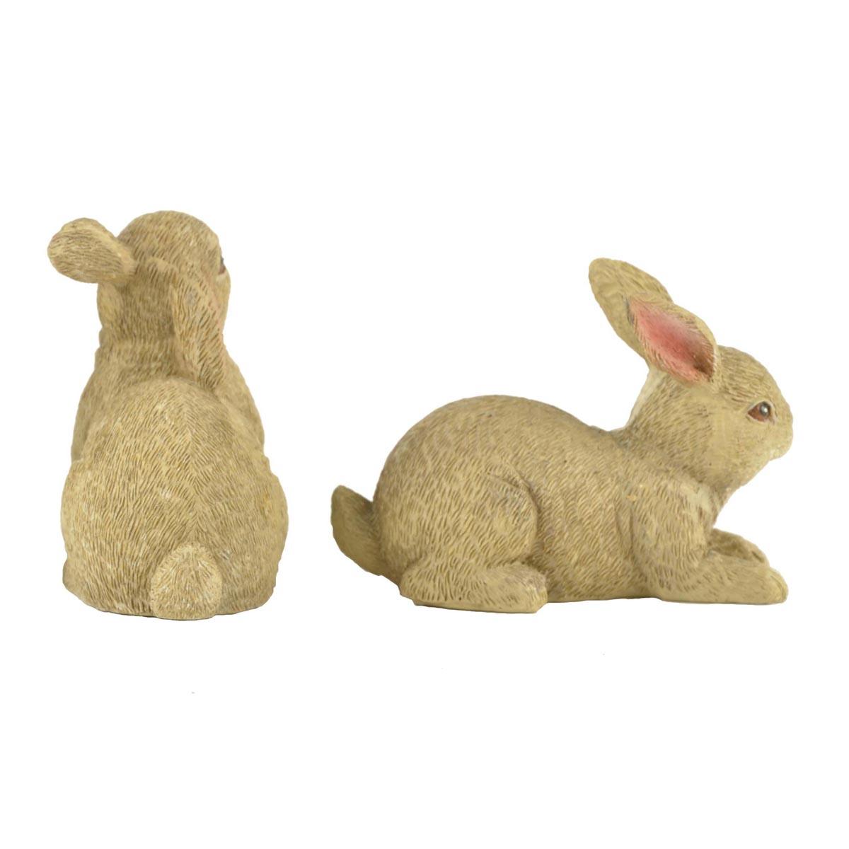 Ennas easter rabbit statues polyresin micro landscape-2