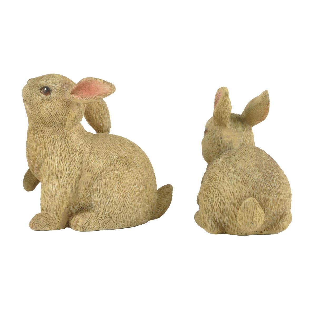 Ennas easter rabbit statues polyresin micro landscape-1