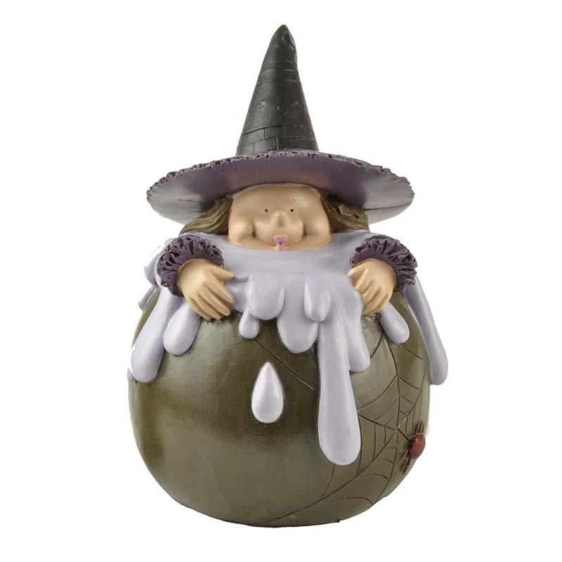 Handmade Craft Resin Halloween Witch Home Decor for wholesale