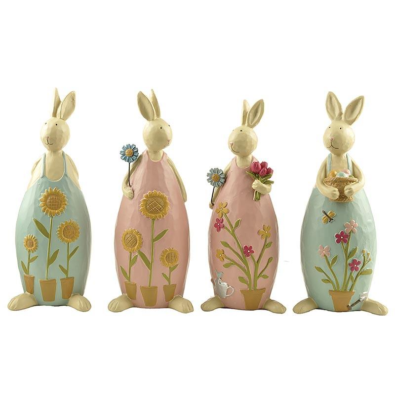 Creative Crafts Resin Rabbit Garden Decoration Bunny Easter Statue
