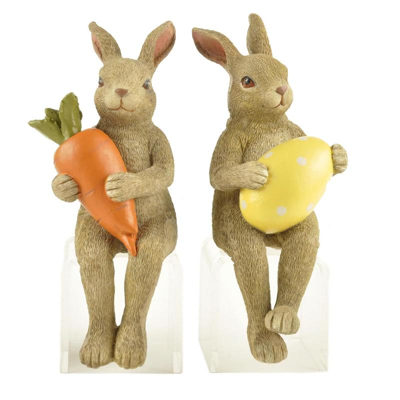 Ennas hot-sale vintage easter bunny figurines polyresin micro landscape