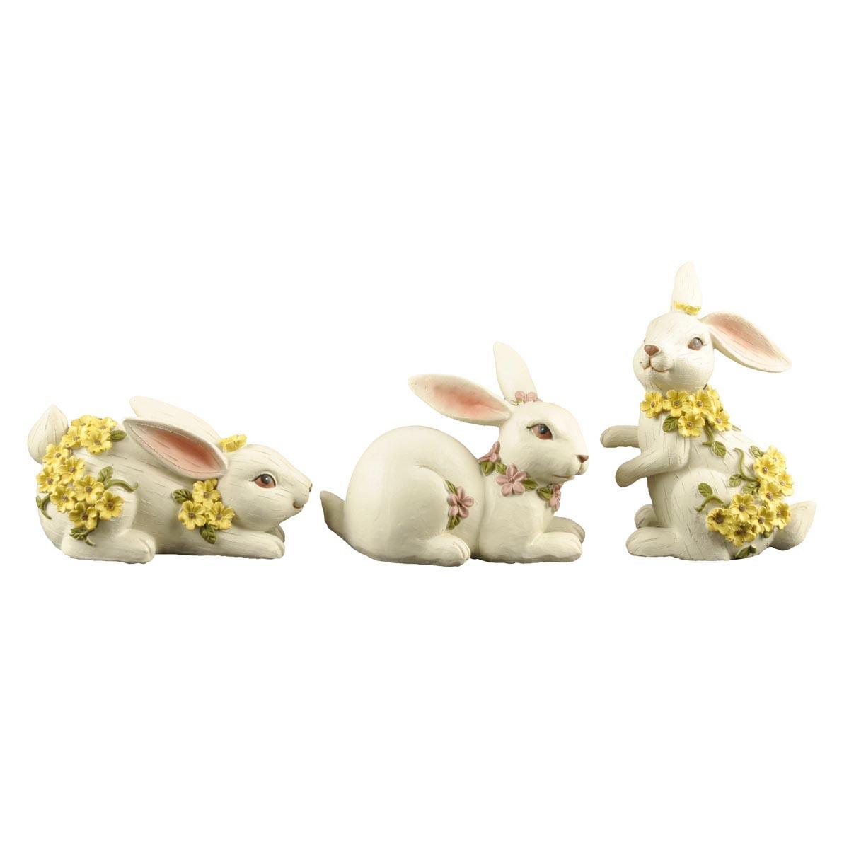 Custom Different Poses Garden Resin Easter Long Ear Rabbit Statues