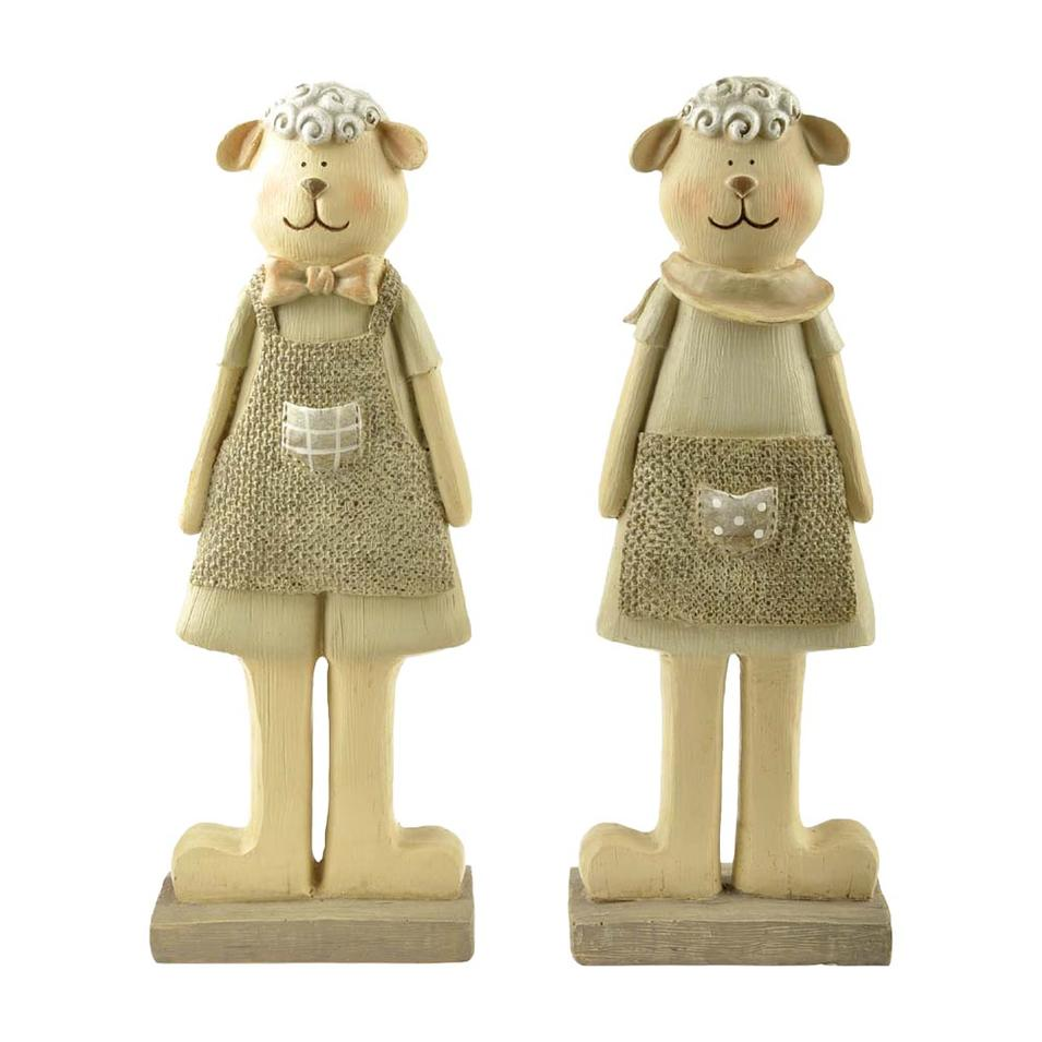 Polyresin Couple Sheep Figurine for Garden Decoration PH15286
