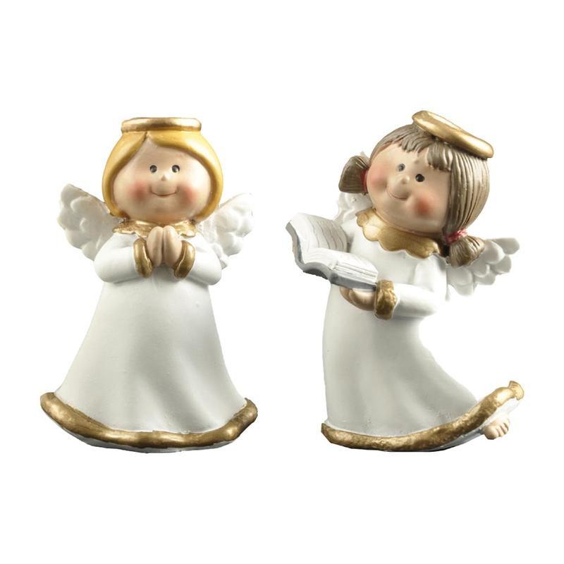 family decor angel figurine colored fashion