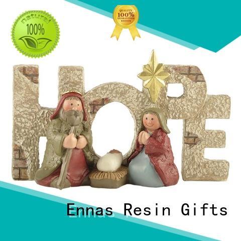 Ennas custom sculptures nativity set with stable popular