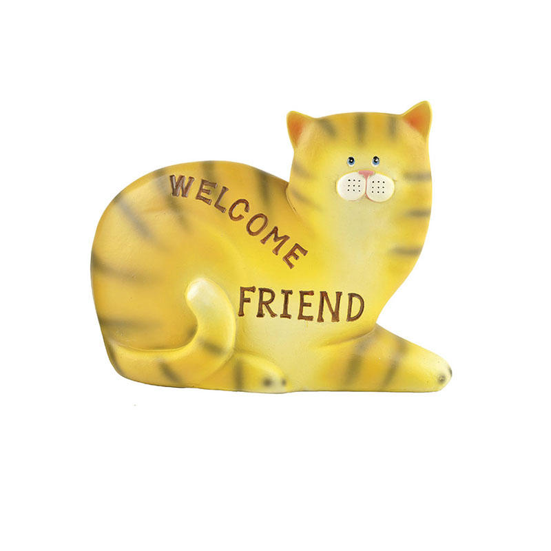 Hot sale Factory Resin Handmade Cute Welcome Cat decoration