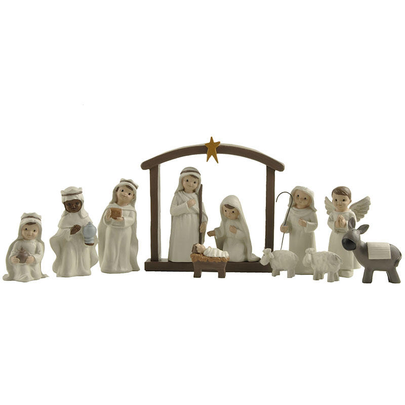 Factory Direct Supply S/11 Catholic Christmas Holy Family Figurine Resin Nativity Set Statue for Home Garden DecorationPH15800