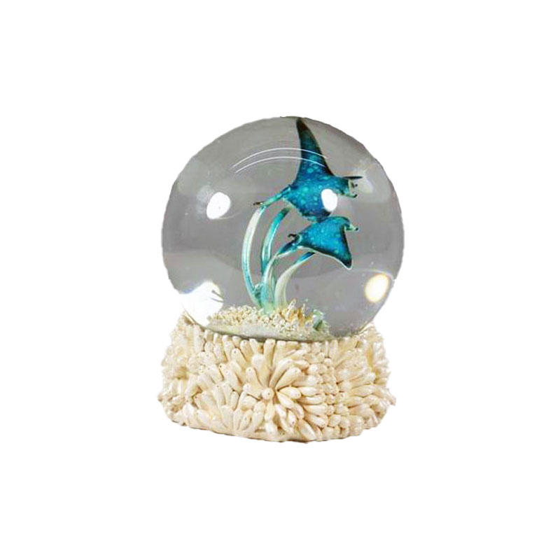 Figurine Manufacturers Resin Crafts Sea Animal Water Globe for Home Holiday Decor