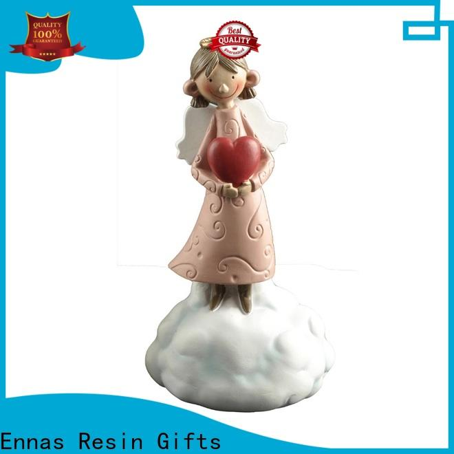 Ennas carved small angel figurines handmade for decoration