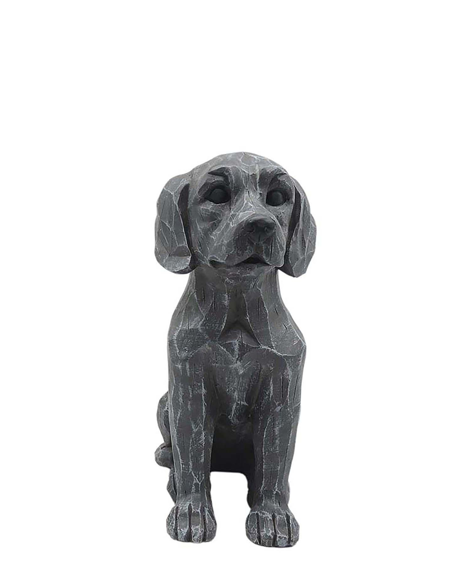 Light Grey Resin Dog  Kawai Garden Decoration  PH15810